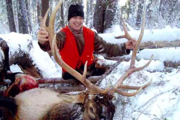 Photo Elk Hunting In Snow